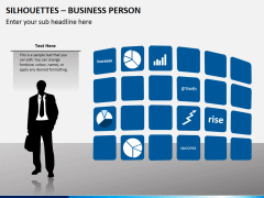 Silhouettes business person PPT slide 4