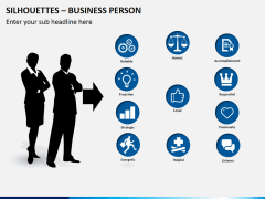 Silhouettes business person PPT slide 5