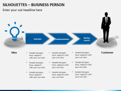 Silhouettes business person PPT slide 6