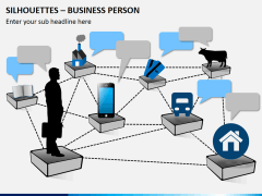 Silhouettes business person PPT slide 7