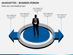Silhouettes business person PPT slide 8