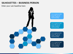 Silhouettes business person PPT slide 9