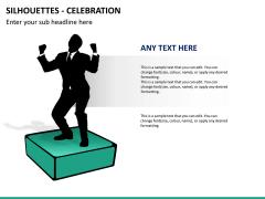 Silhouettes celebration PPT slide 4