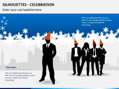 Silhouettes celebration PPT slide 1