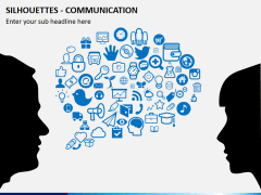 Silhouettes communication PPT slide 2