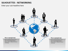 Silhouettes networking PPT slide 1