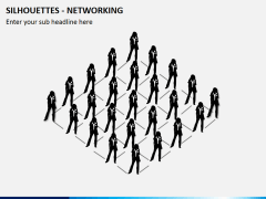Silhouettes networking PPT slide 2
