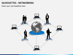 Silhouettes networking PPT slide 3