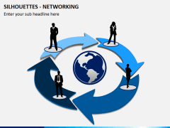 Silhouettes networking PPT slide 4