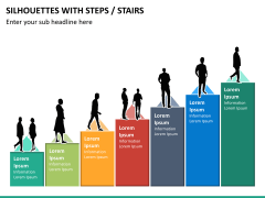 Silhouettes steps PPT slide 15