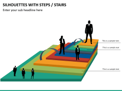 Silhouettes steps PPT slide 26