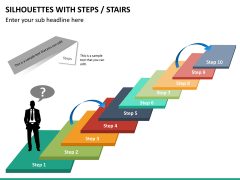 Silhouettes steps PPT slide 27