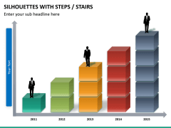 Silhouettes steps PPT slide 17