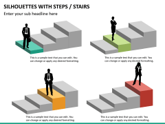 Silhouettes steps PPT slide 20