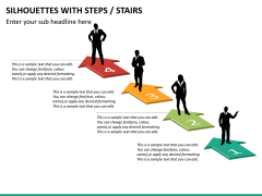 Silhouettes steps PPT slide 22