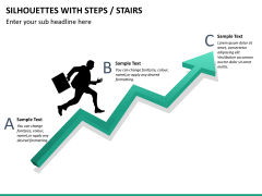 Silhouettes steps PPT slide 23