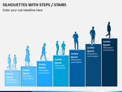 Silhouettes steps PPT slide 1