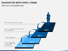 Silhouettes steps PPT slide 10