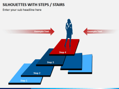 Silhouettes steps PPT slide 11