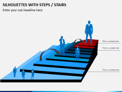 Silhouettes steps PPT slide 12