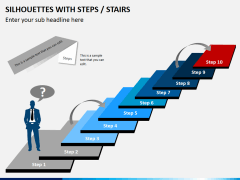 Silhouettes steps PPT slide 13