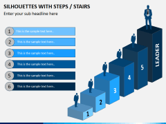 Silhouettes steps PPT slide 2