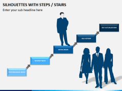 Silhouettes steps PPT slide 4