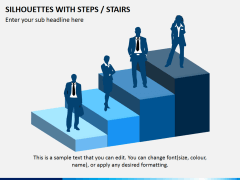 Silhouettes steps PPT slide 5