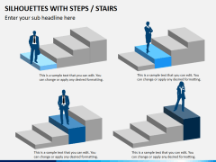 Silhouettes steps PPT slide 6