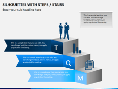 Silhouettes steps PPT slide 7