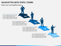 Silhouettes steps PPT slide 8