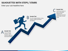 Silhouettes steps PPT slide 9