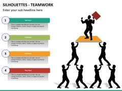 Silhouettes teamwork PPT slide 4