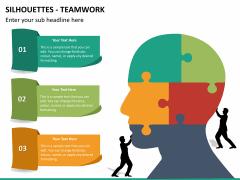 Silhouettes teamwork PPT slide 5