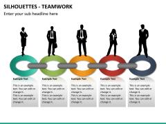 Silhouettes teamwork PPT slide 6