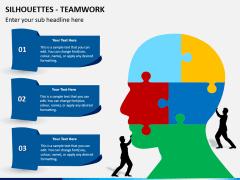 Silhouettes teamwork PPT slide 2