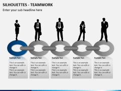 Silhouettes teamwork PPT slide 3