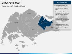 Singapore map PPT slide 11