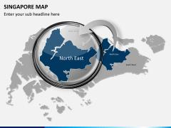 Singapore map PPT slide 13