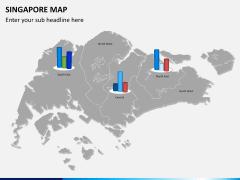 Singapore map PPT slide 14