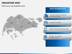 Singapore map PPT slide 15