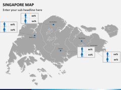 Singapore map PPT slide 16