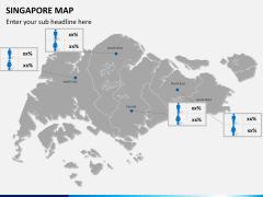 Singapore map PPT slide 16