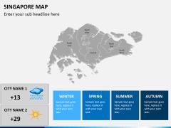 Singapore map PPT slide 19