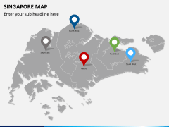 Singapore map PPT slide 4