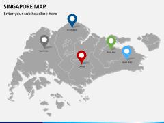 Singapore map PPT slide 4