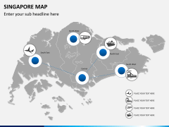 Singapore map PPT slide 7