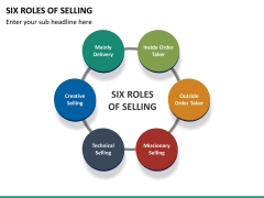 Six roles of selling PPT slide 13