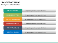 Six roles of selling PPT slide 20