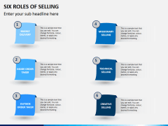 Six roles of selling PPT slide 1